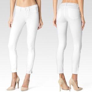 Paige Verdugo Crop White Jeans